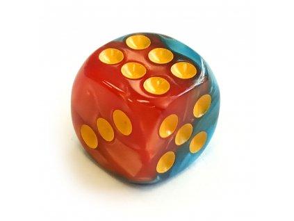 Hrací kostka šestistěnná perleťová malá