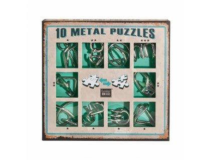 Sada 10 hlavolamů - zelená