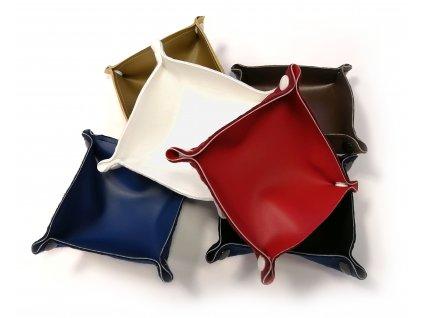 Rozkládací koženková miska cca 10 x 10 cm (6 barev)