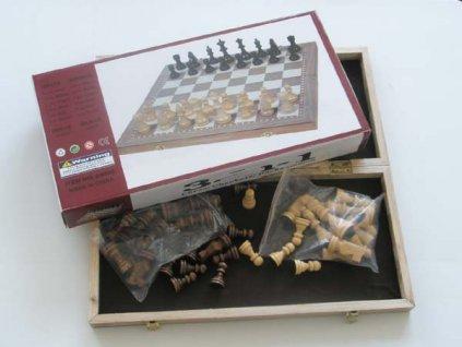 Sada šachy, dáma, backgammon 3-v-1 (29x29)