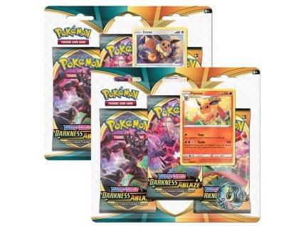 Pokémon: Sword & Shield: Darkness Ablaze - 3 Pack Blister