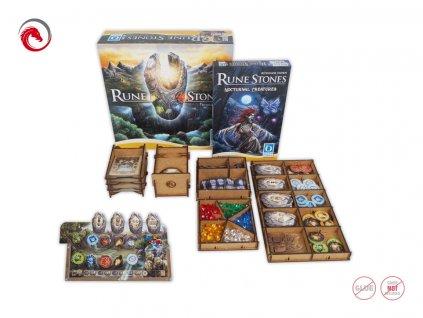 Rune Stones + Expanson Insert + 4x organizér