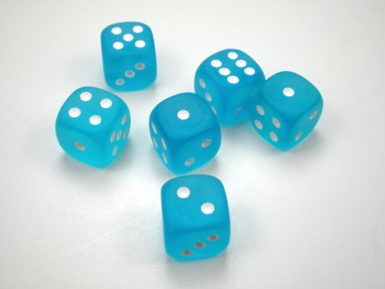 chessex dice frosted caribbean blue with white pips 12mm d6 3[1]