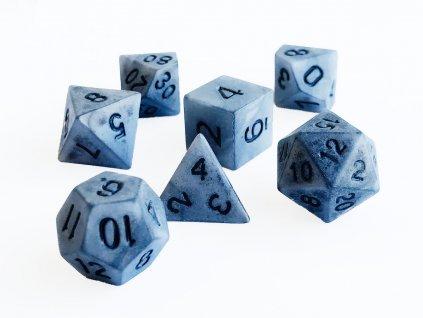 "Sada 7 ""kamenných"" kostek pro RPG"