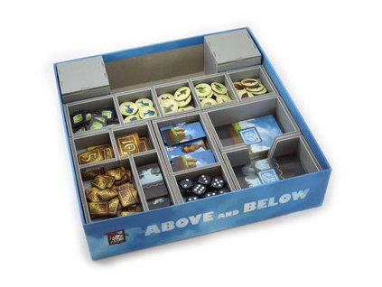 folded space insert organizer above and below