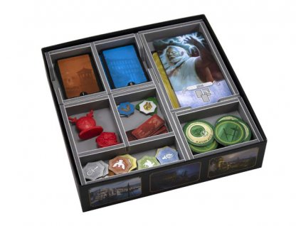 folded space insert organizer 7 wonders duel foam core