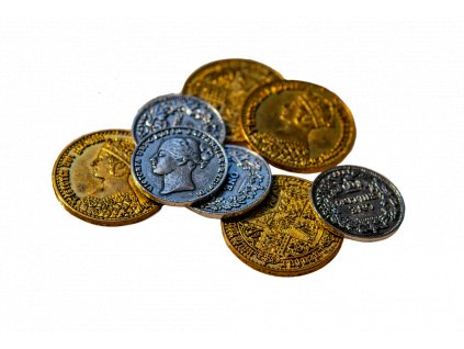 Nanty Narking: 50 Victorian Metal Coins  50 viktoriánských kovových mincí
