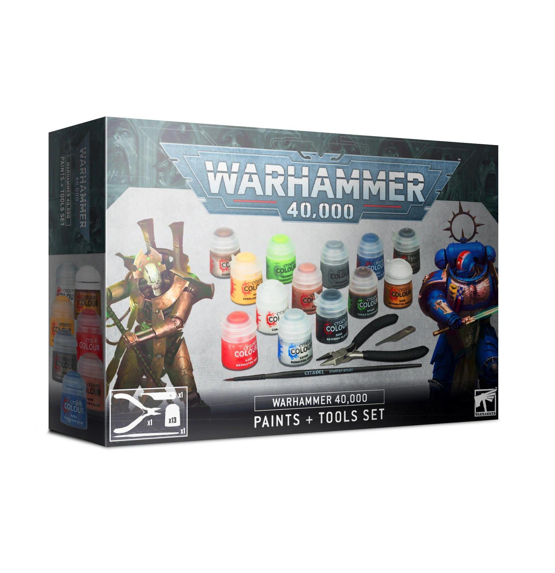 Levně Citadel Warhammer 40.000: Paints + Tools Set