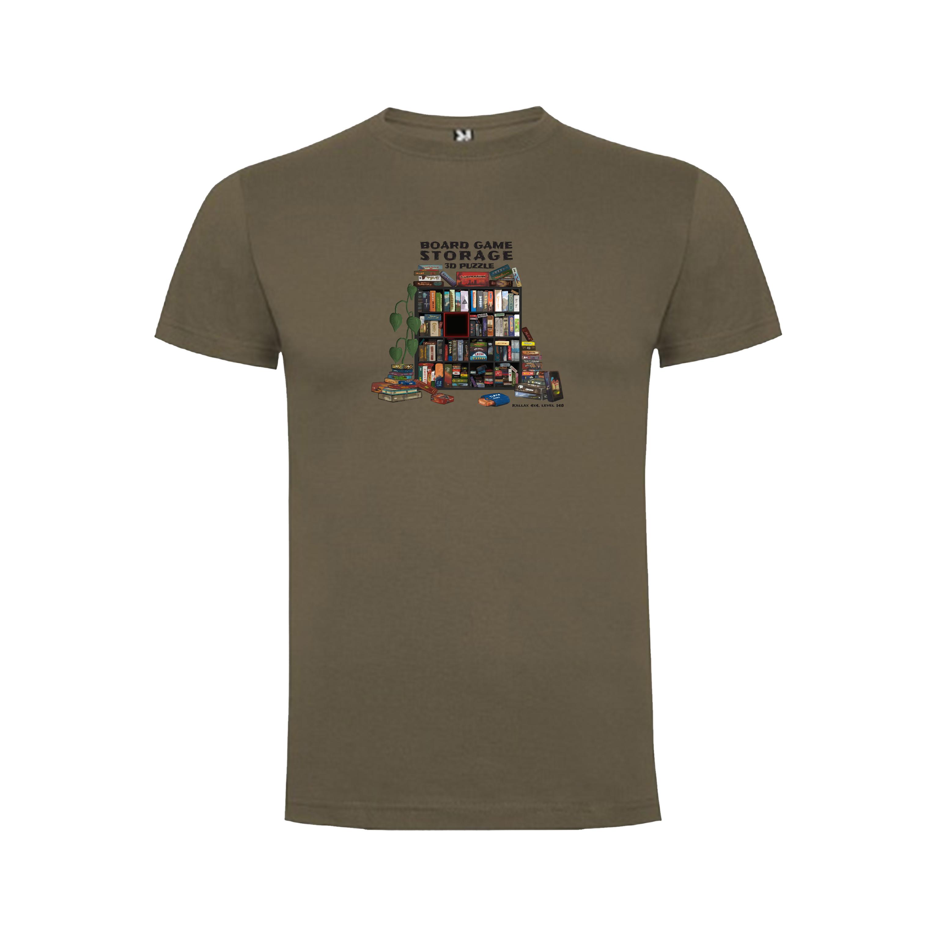 """Levně TLAMA games T-shirt """"Storage 3D Puzzle"""" Barva: ořechová hnědá, Velikost: M"""