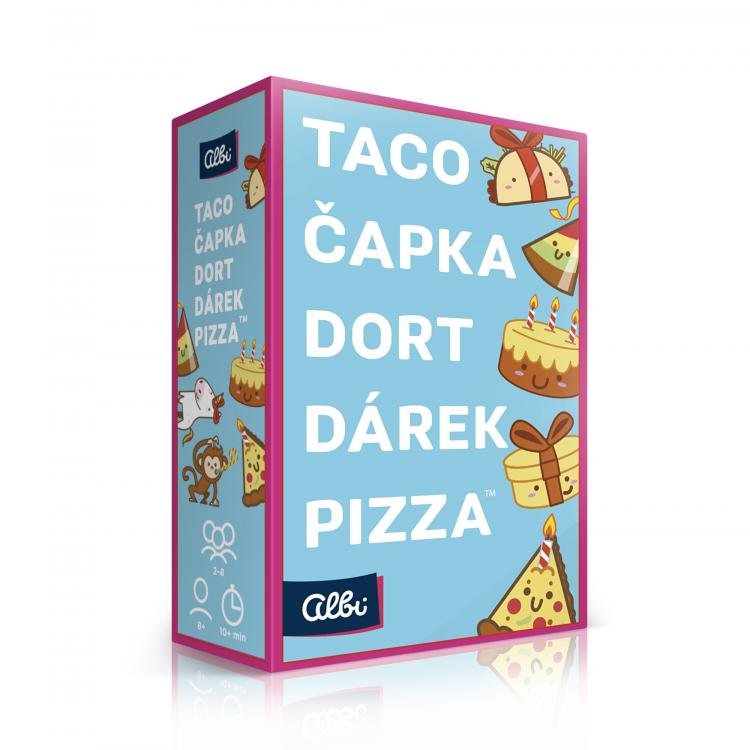 Albi Taco, čapka, dort, dárek, pizza