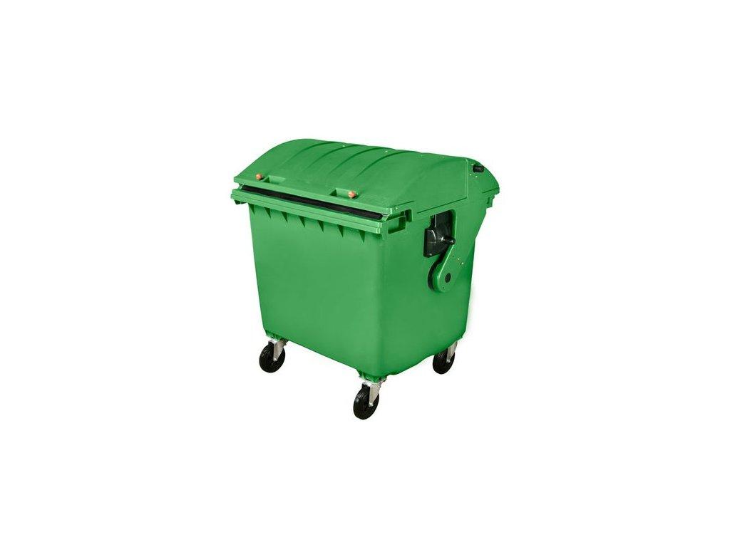 Plastový kontejner 1100 L, zelený