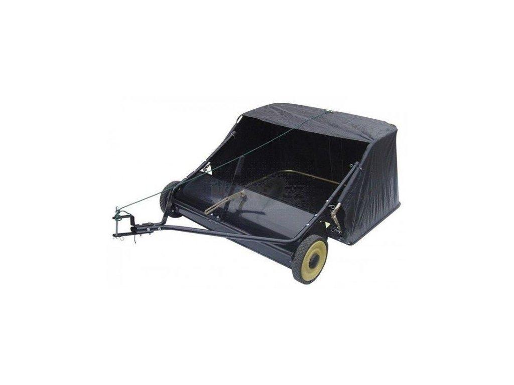 Tažený kartáčový sběrač trávy a listí za traktor