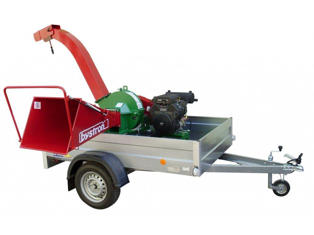 PIRANA Longa - špalíkovač s motorem Kohler 23,5 HP na podvozku