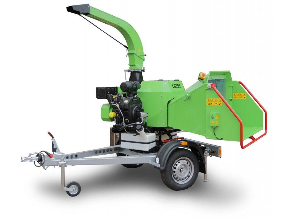 Laski LS 160 P - kompaktní benzínový štěpkovač