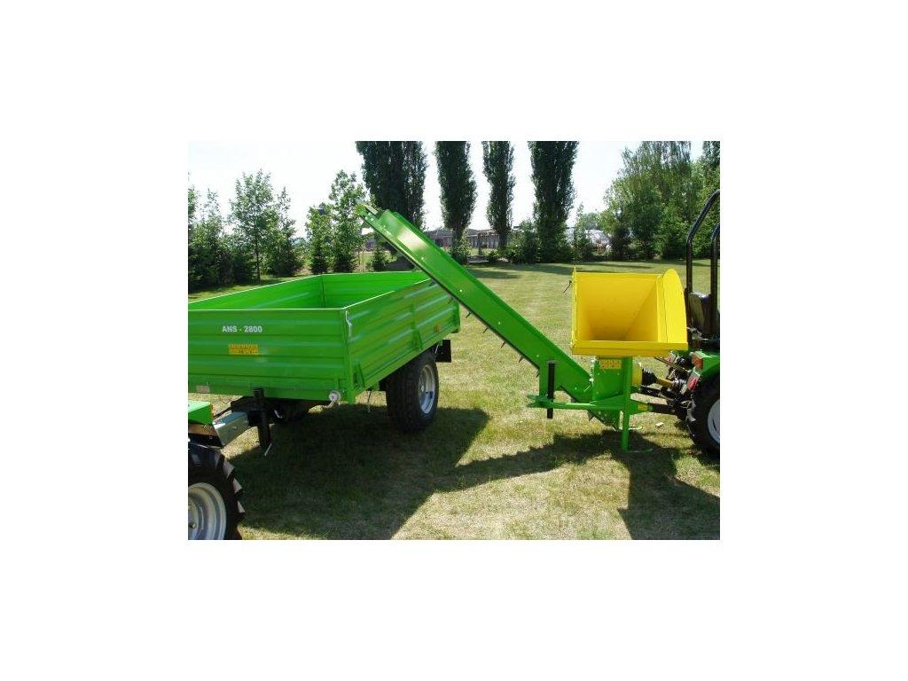 BOBR 75 Transport - špalíkovač za traktor + pásový dopravník + doprava zdarma