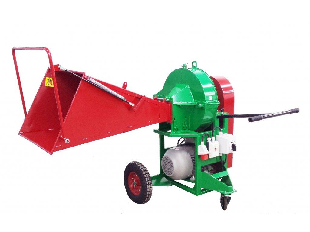 PIRBA - štěpkovač s elektromotorem 11 kW