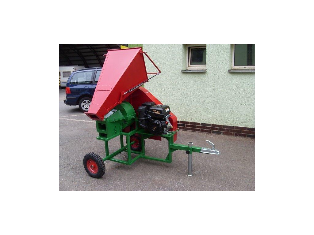 PIRANA Longa - špalíkovač s motorem Kohler 14HP na terénních kolech 410x100mm za tažné zařízení