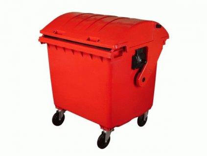 Plastový kontejner 1100 L, červený
