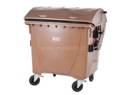 Plastový kontejner 1100 L BIO odpad, hnědý