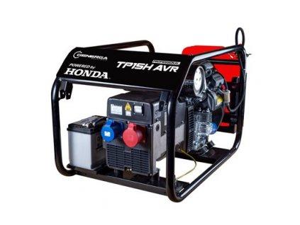 Honda TP 15 H AVR elektrocentrála třífázová s podvozkem