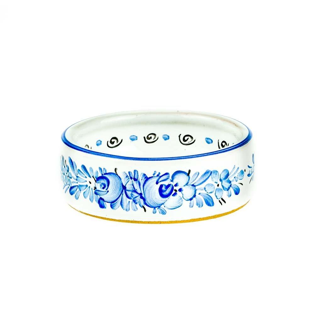 Kalíšek na svíčku, modrý, modrá chodská keramika