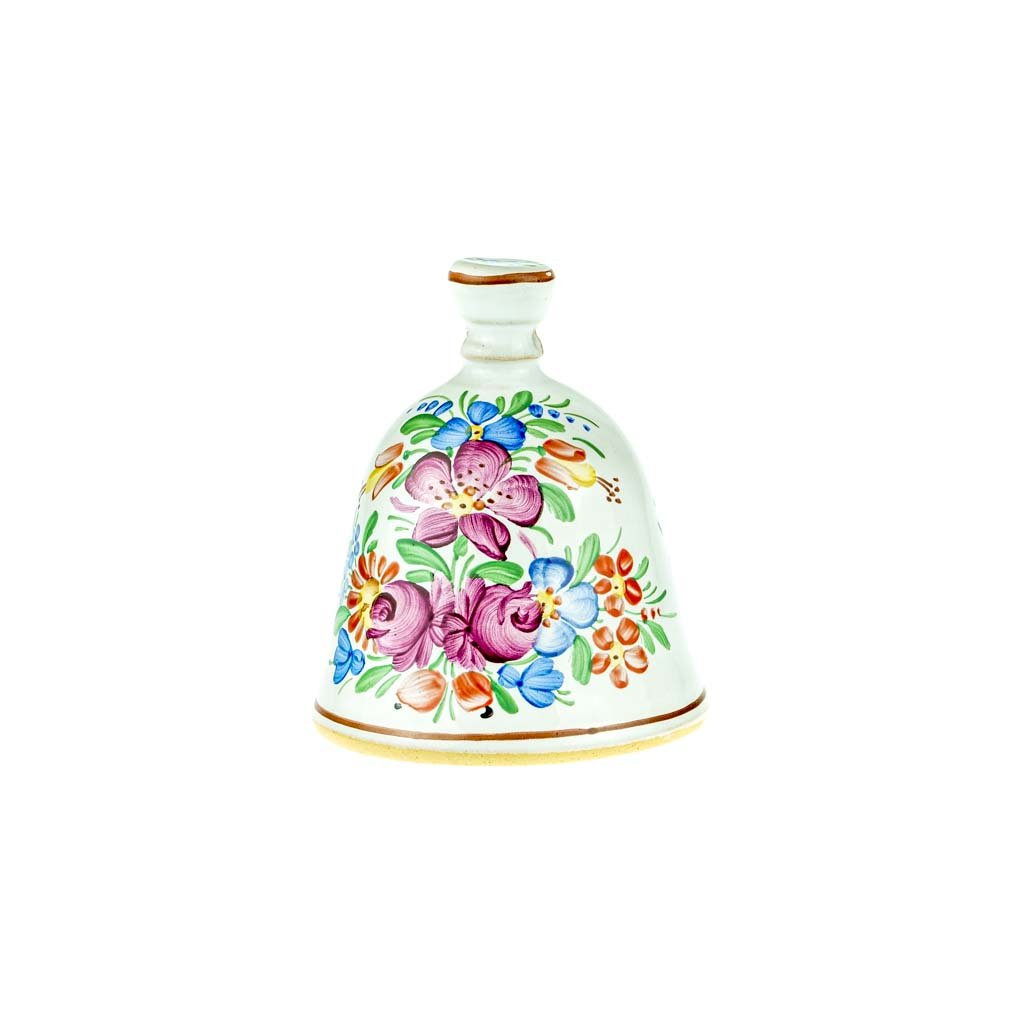 Zvoneček 10 cm, bílá chodská keramika