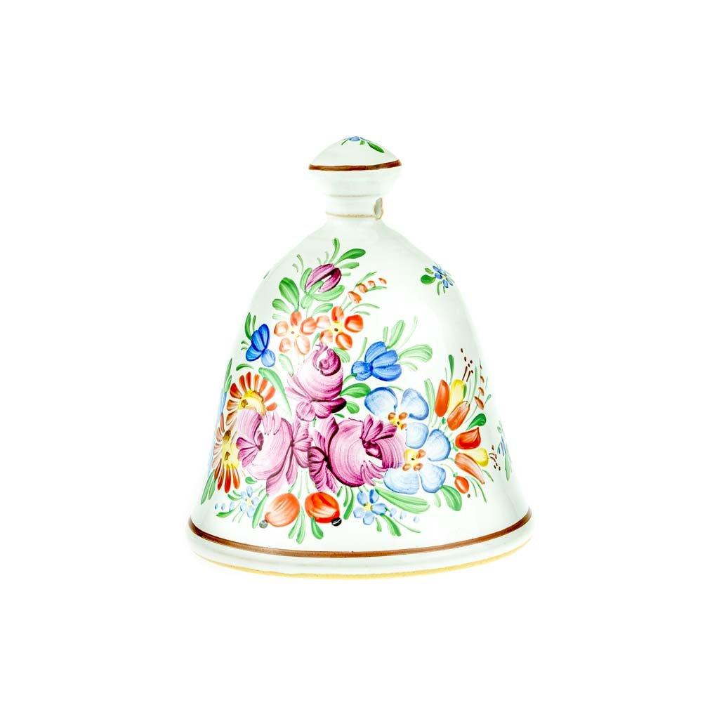 Zvoneček 13 cm, bílá chodská keramika