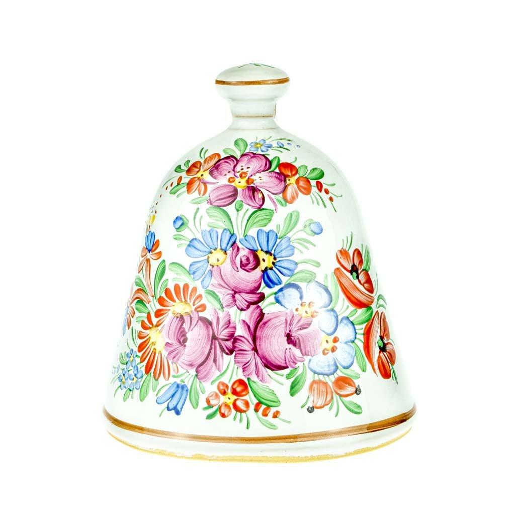 Zvon 16 cm, bílá chodská keramika
