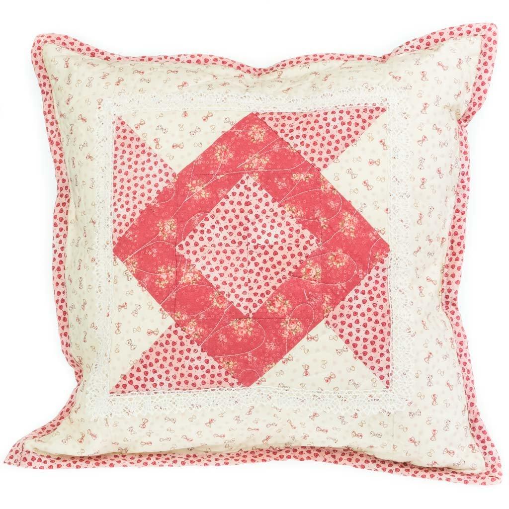 Dekorativní polštář, červený
