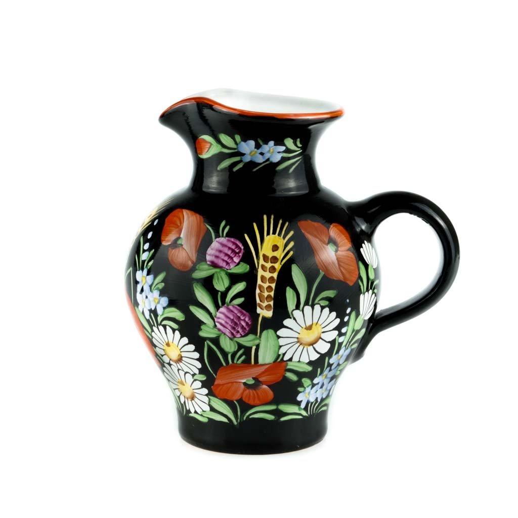 Džbán, 13cm, černá chodská keramika