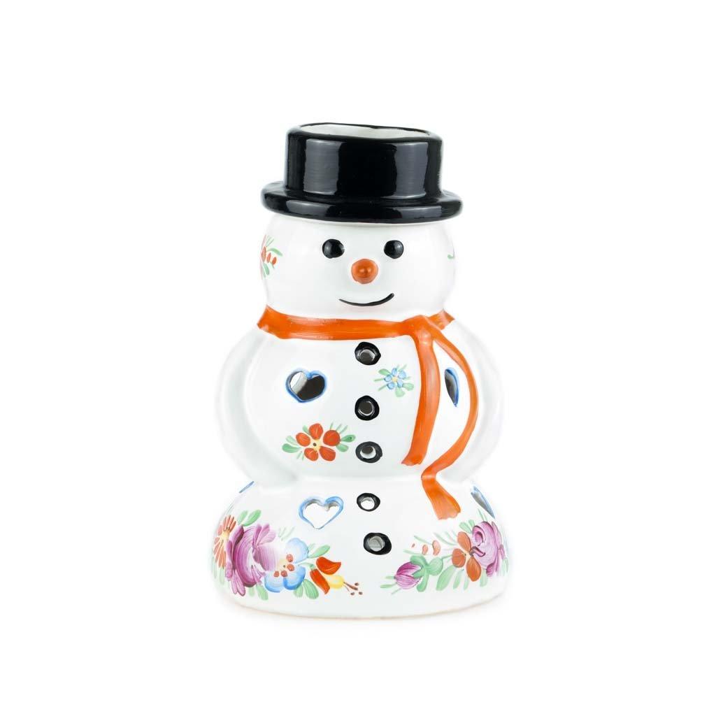 Sněhulák, aromalampa, bílá chodská keramika
