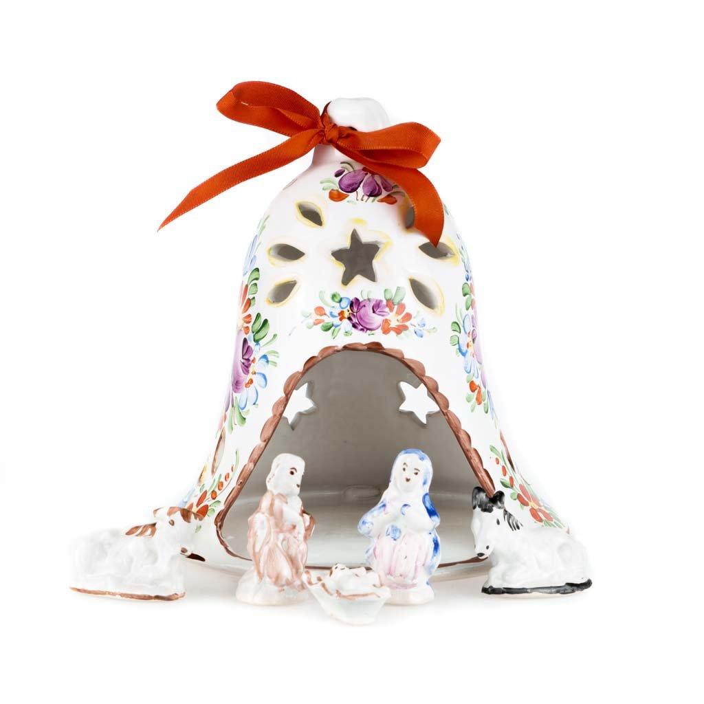 Betlém, vánoční zvon, bílá chodská keramika