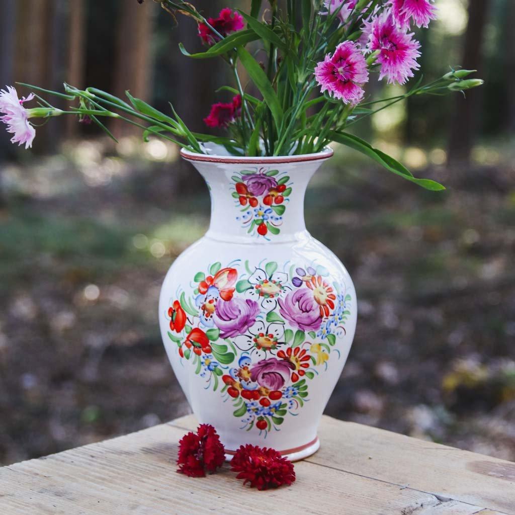 Keramická váza z Chodska, 20 cm, chodská keramika