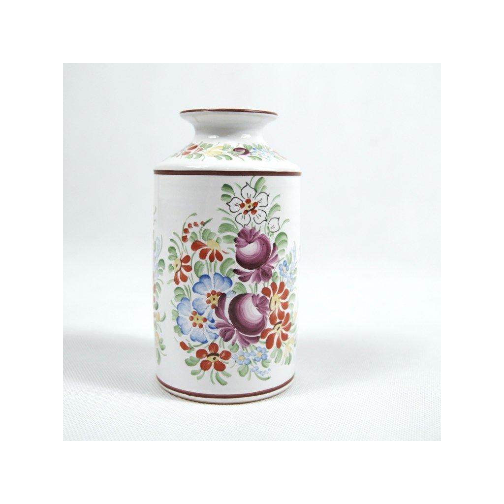 Váza 16 cm, bílá chodská keramika
