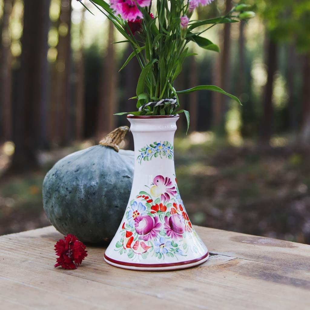 Váza 13 cm, bílá chodská keramika