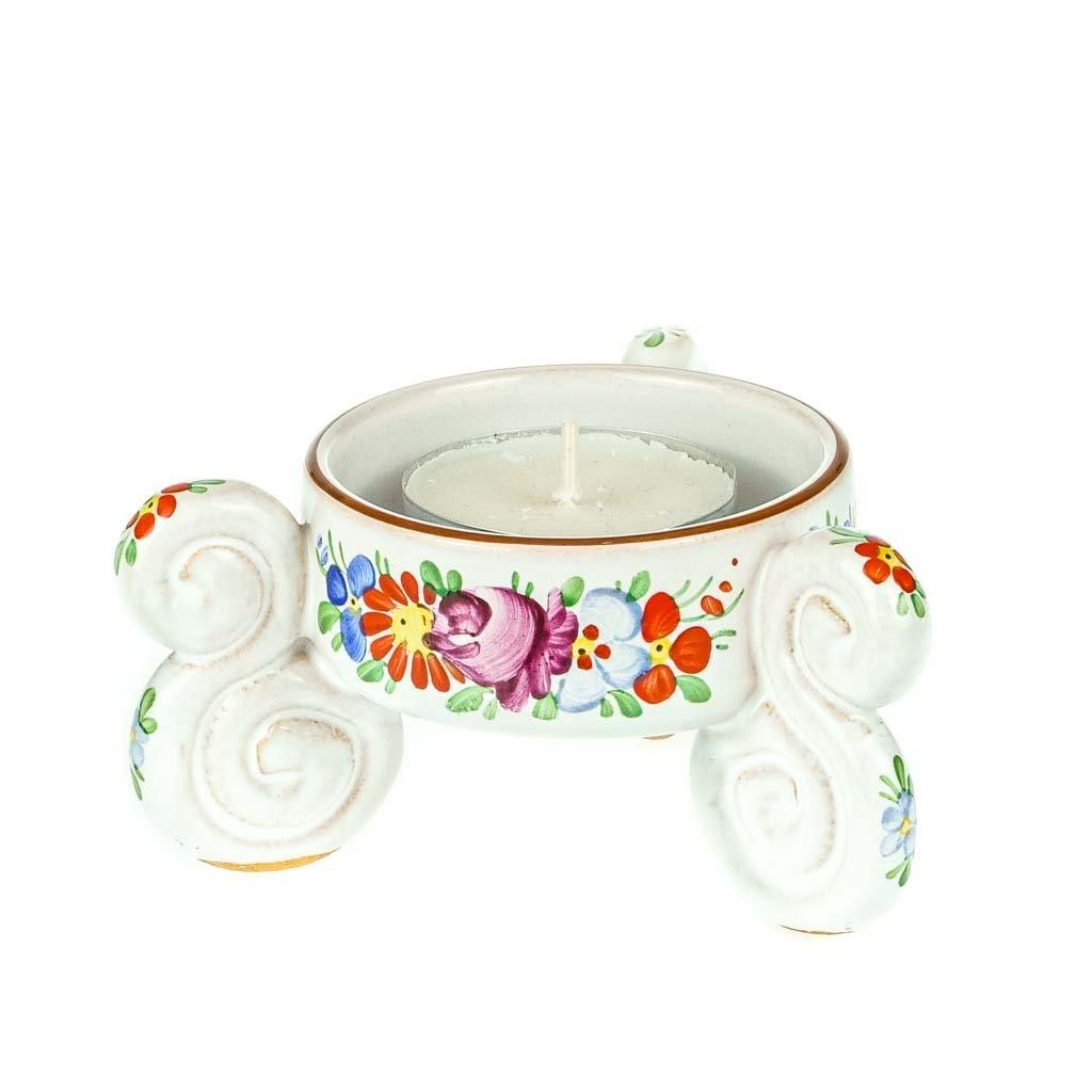 Svícen s ouškem, chodská keramika