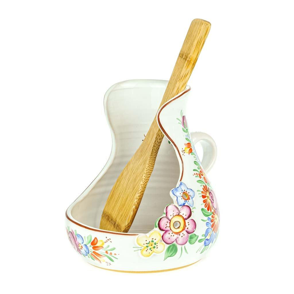 Stojánek na vařečku, chodská keramika