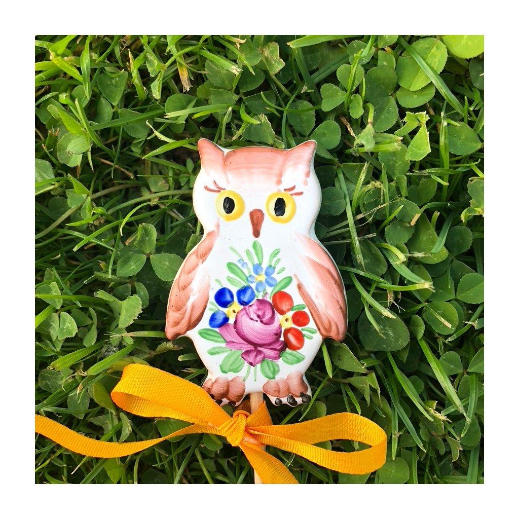 Zápich do květináče - Sovička