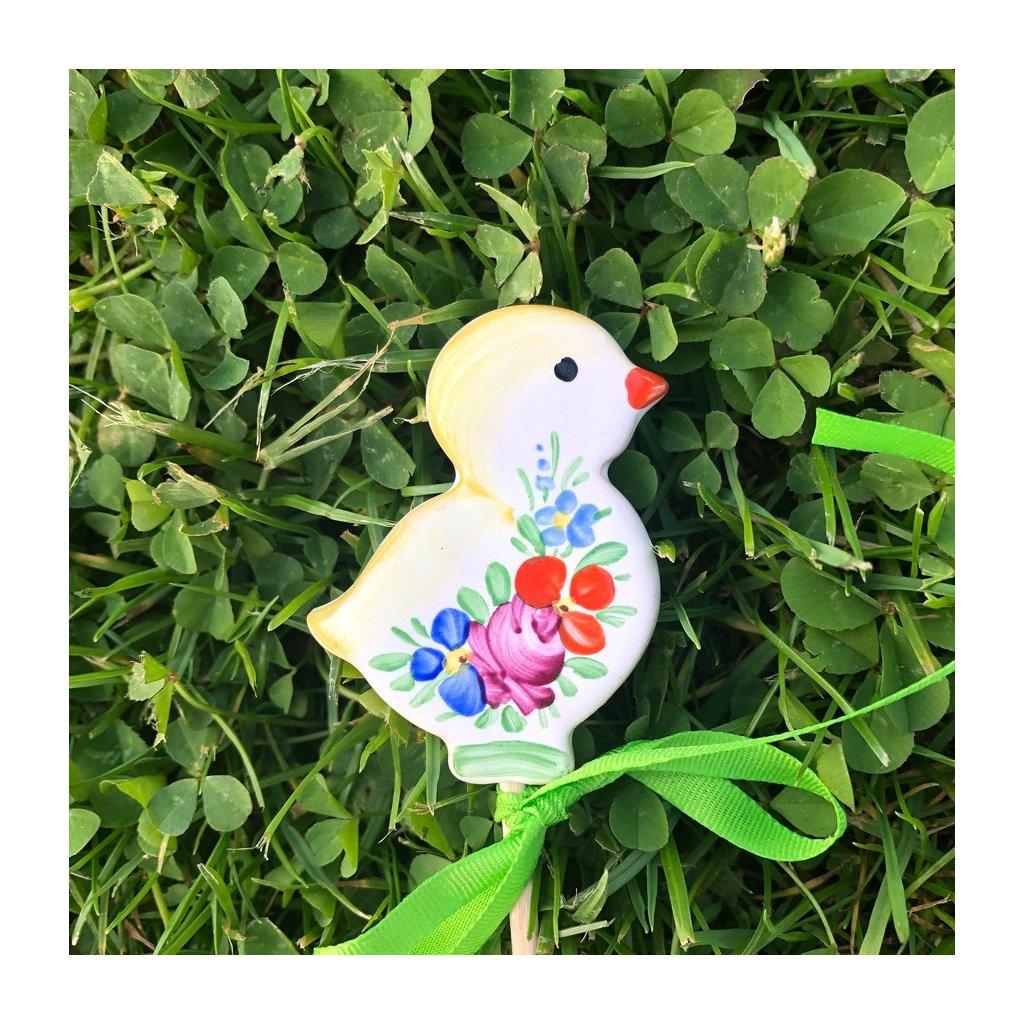 Zápich do květináče - Kuřátko