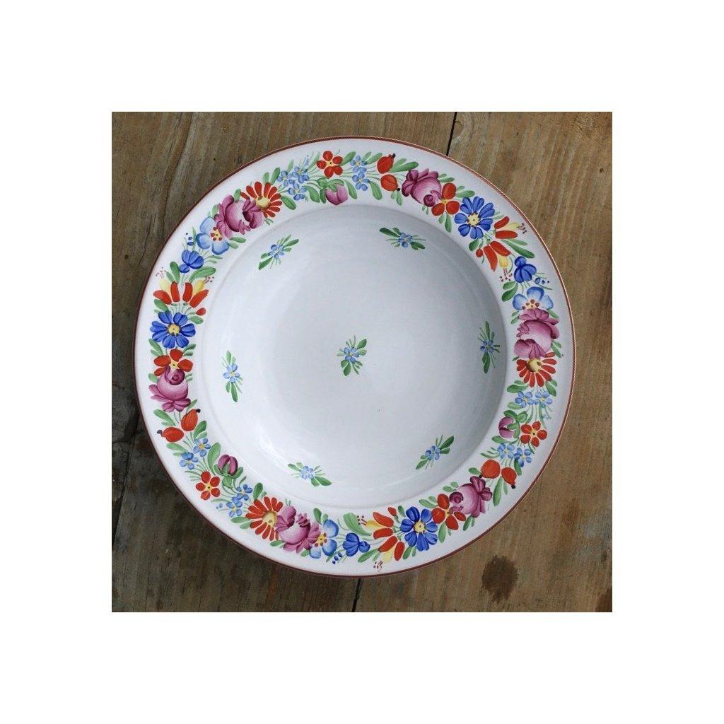 Talíř jídelní hluboký, bílý ø 23 cm