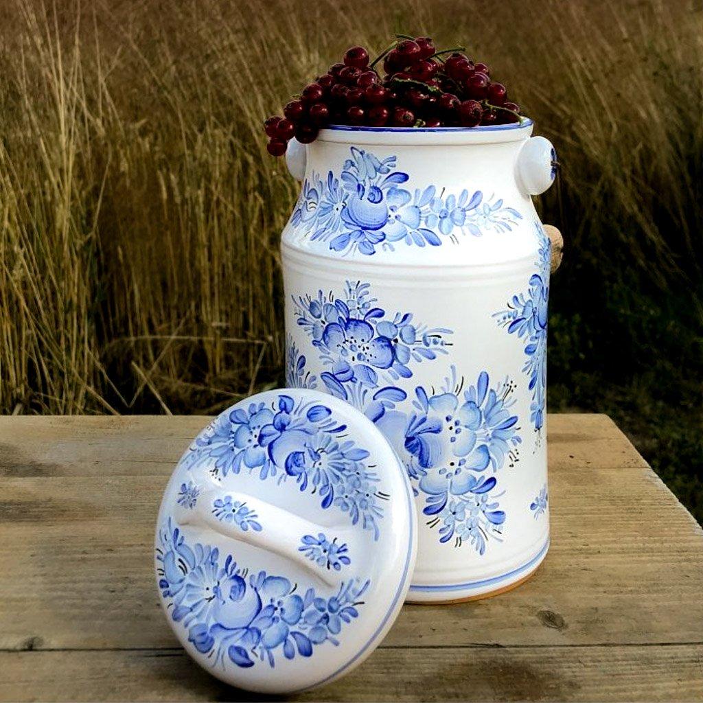 Chodská bandaska, modrá chodská keramika