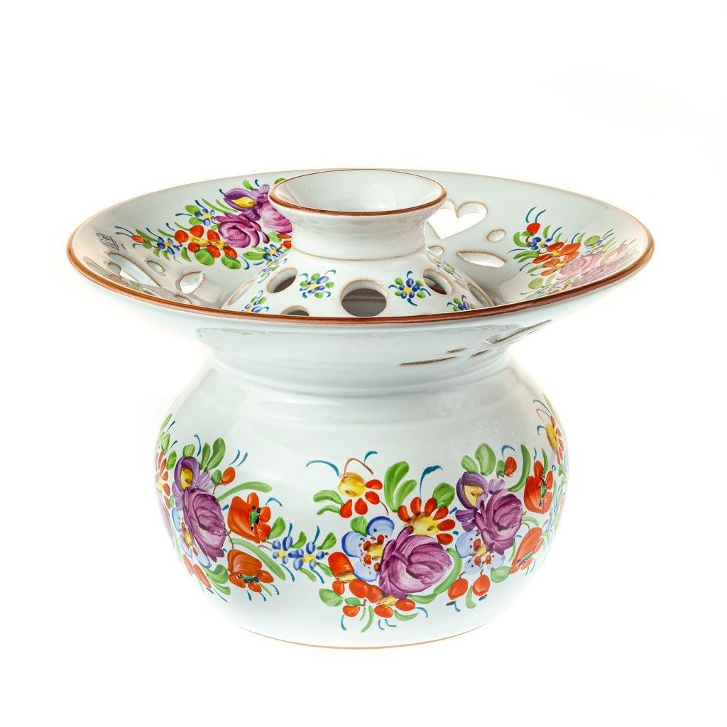 Ikebana na květiny, chodská keramika