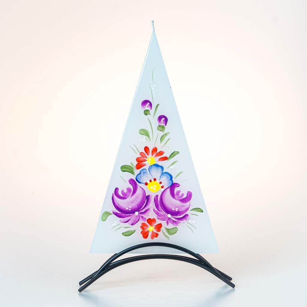 Dekorativní svíčka, velká, chodský motiv
