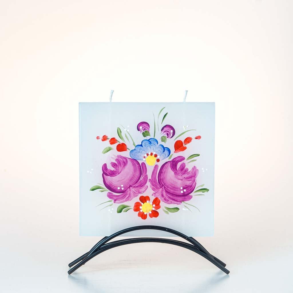 Dekorativní svíčka, malá, chodský motiv