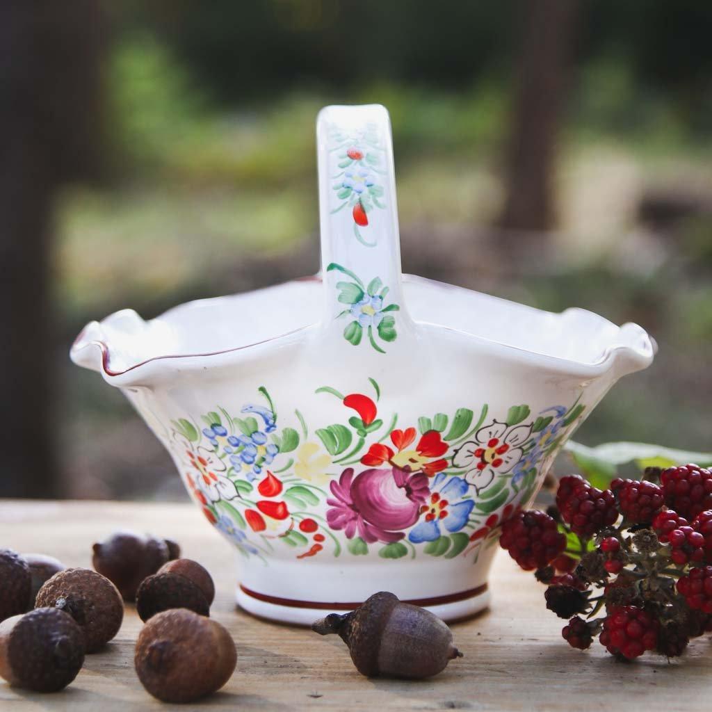 Koš velký 18 cm, chodská keramika