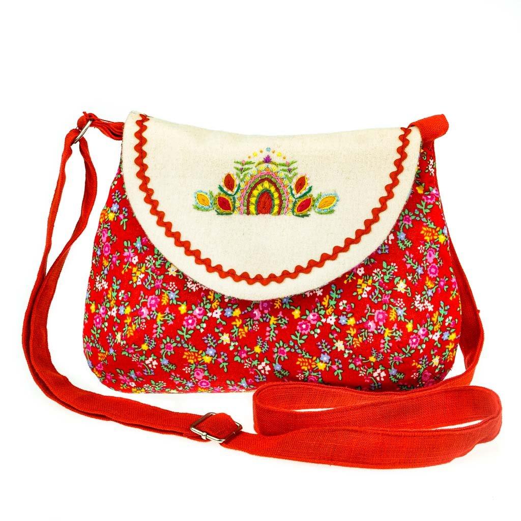 Krojová kabelka, červená