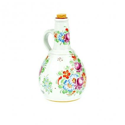 Láhev na slivovici, bílá chodská keramika