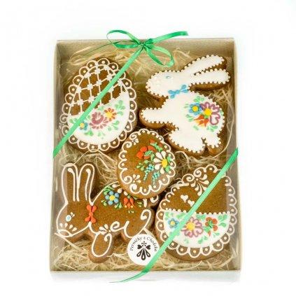Velikonoční balení perníčků z Chodska, zajíček