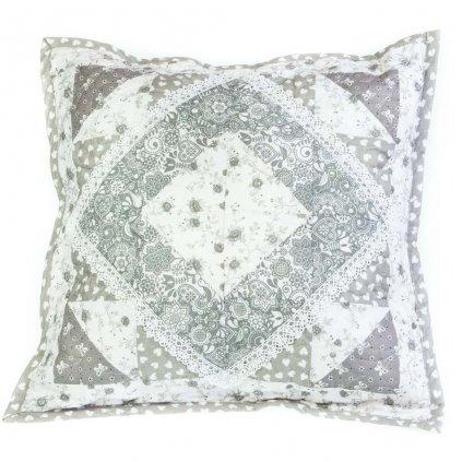 Dekorativní polštář, šedý