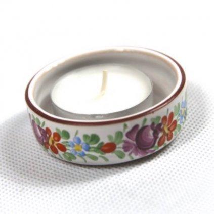 Kalíšek na svíčku z chodské keramiky